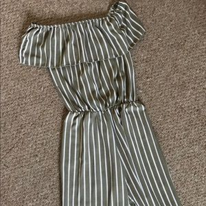 Other - Striped Culottes Jumpsuit